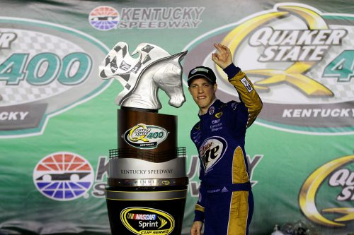 Brad Keselowski winner of Quaker State 400