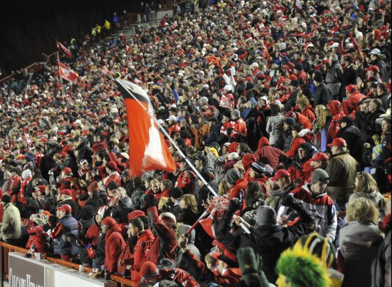 Stampeders Fans and the Flag