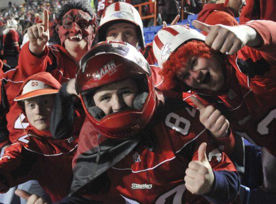 Calgary Stampeders Costume Fans