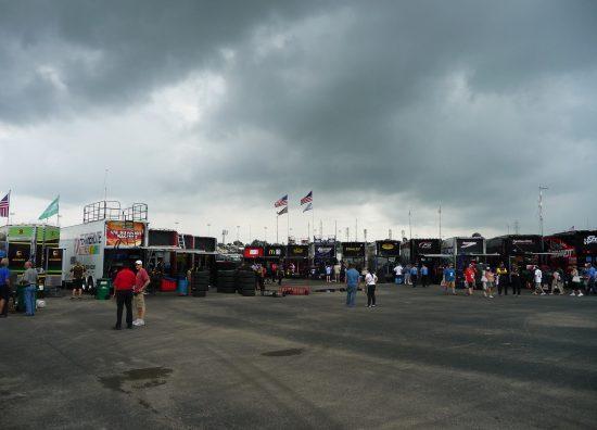 Kentucky Speedway garage