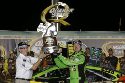 Kyle Busch winner of Quaker State 400