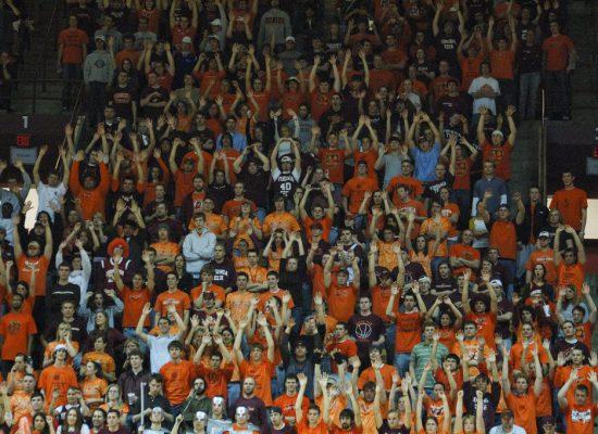 Virginia Tech basketball fans