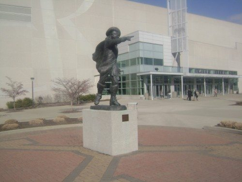 Xavier Musketeer Statue