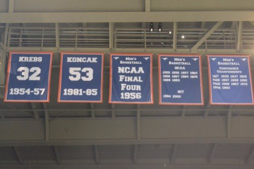 Moody Coliseum banners