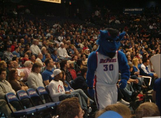 Exterior: DePaul Blue Demons Basketball Tailgating