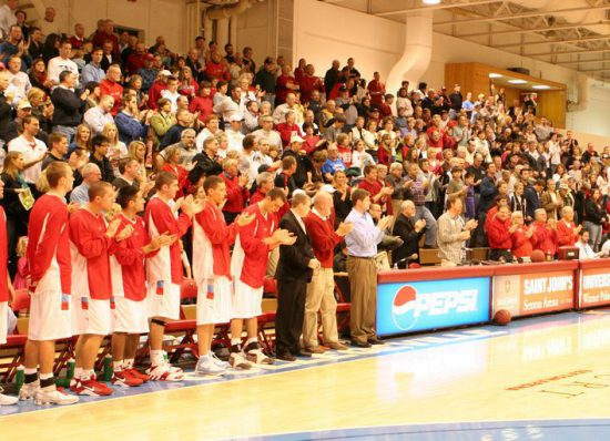 St Johns Red Storm Basketball fans crowd