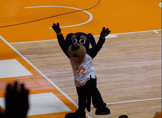 Tennessee Volunteers basketball mascot Smokey X