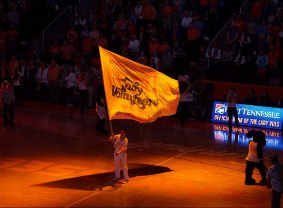 Tennessee Volunteers basketball flag