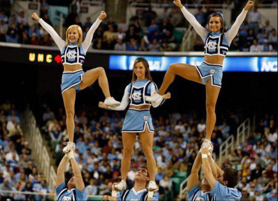 UNC Tar Heels cheerleaders