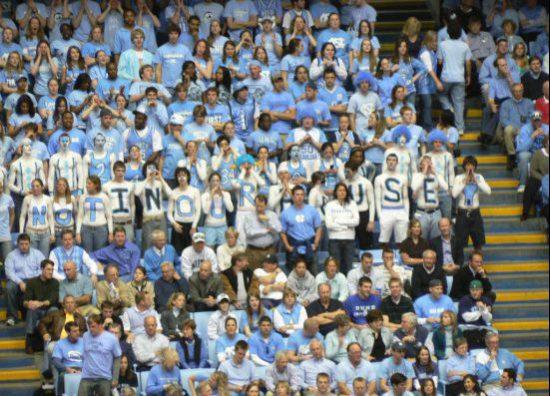 UNC Tar Heels basketball fans