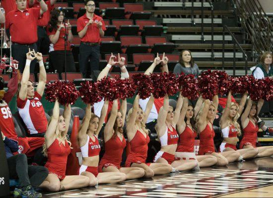 Utah Utes Basketball Cheerleaders
