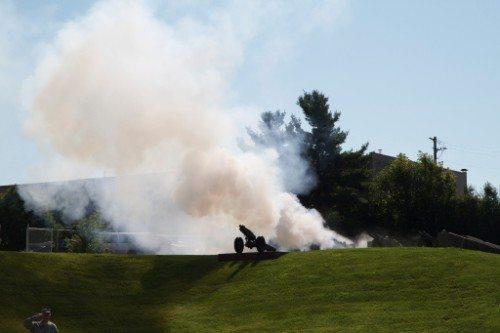EKU Eastern Kentucky Colonels cannon