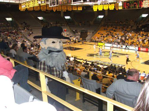 ASU mascot Yosef Holmes Center Appalachian State Mountaineers Basketball