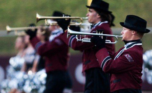 SIU Southern Illinois Salukis marching Band