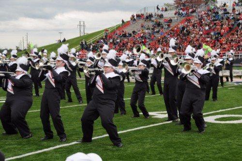 Liberty University Flames marching band