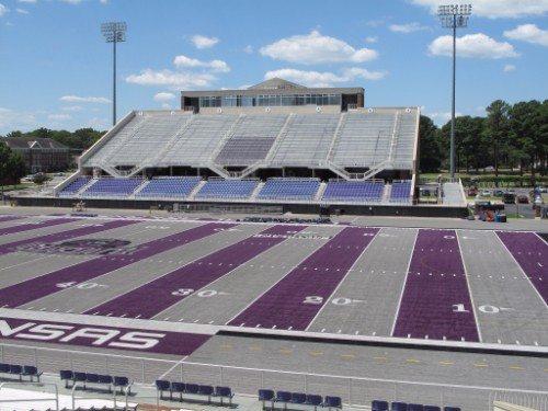 UCA Purple and Gray Field Estes Stadium