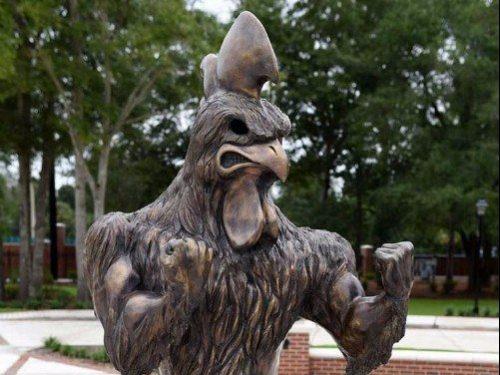 CCU Chanticleers Statue
