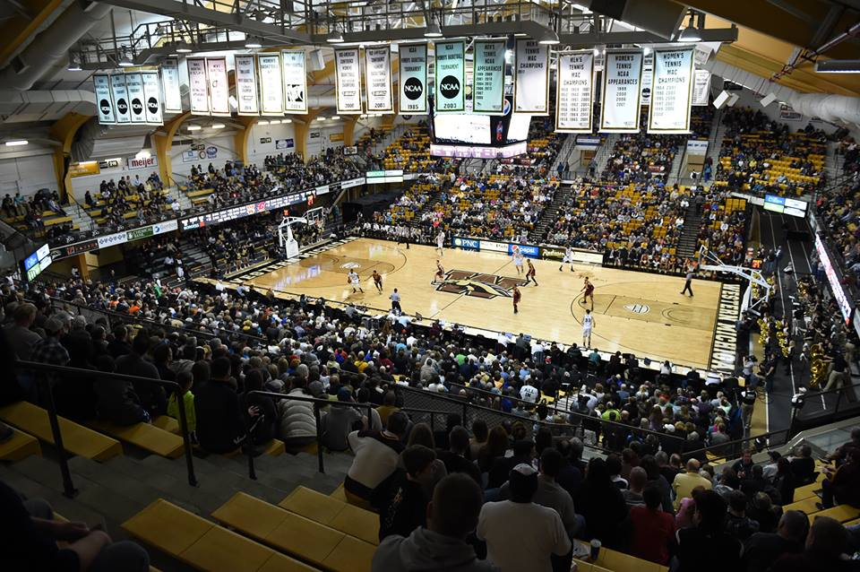 Western Michigan Broncos Basketball wmu University Arena banners
