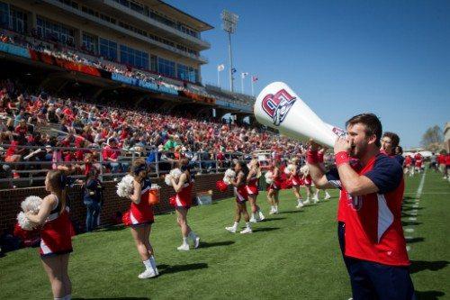 Liberty Flames Williams Stadium cheerleaders