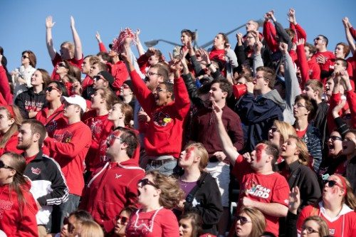 Illinois State Redbirds red alert student section