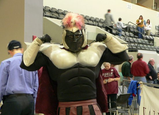 UALR Little Rock Trojans Basketball Jack Stephens Center mascot The Trojan