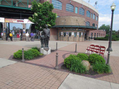 Morrie E Silver statue Frontier Field