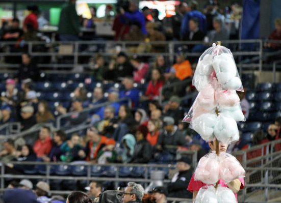Norfolk Tides baseball Harbor Park cotton candy