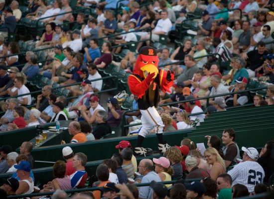 Rochester Red Wings baseball mascot Spikes