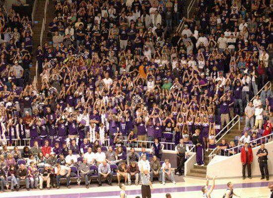 Weber State Wildcats Basketball Dee Events Center fans crowd