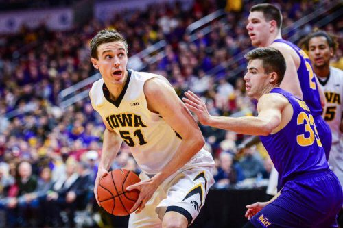 Northern Iowa Panthers Iowa Hawkeyes basketball