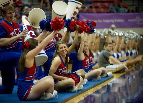 Louisiana Tech Bulldogs basketball cheerleaders