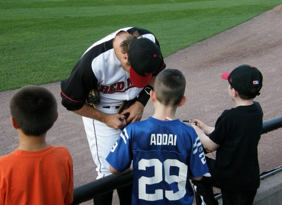 Rochester Red Wings Frontier Field autograph signing