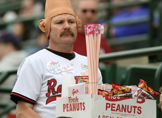 Rochester Red Wings Frontier Field conehead peanuts