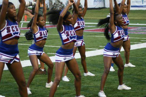 South Carolina State Bulldogs cheerleaders