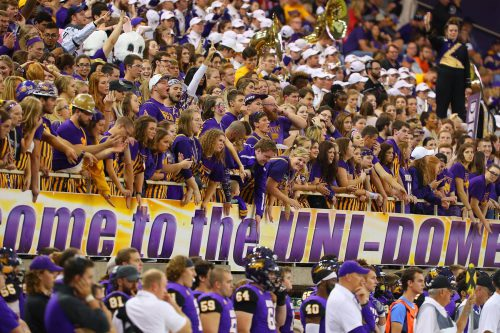 Northern Iowa Panthers UNI Dome student section fans