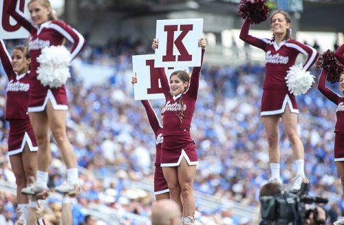 Eastern Kentucky Colonels Roy Kidd Stadium cheerleaders