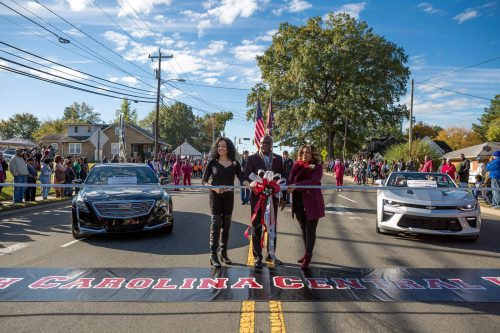 North Carolina Central Eagles homecoming parade tailgate