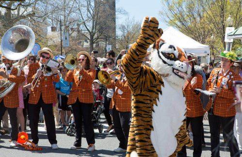 Princeton Tigers mascot parade