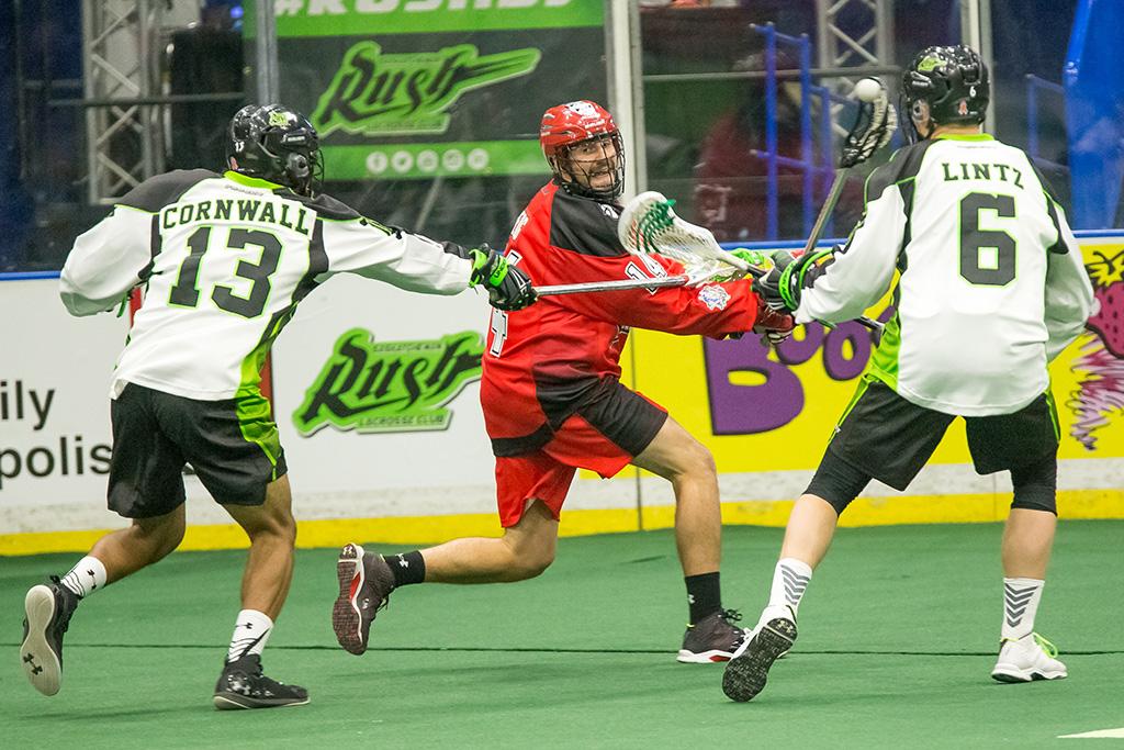 Saskatchewan Rush vs Calgary roughnecks