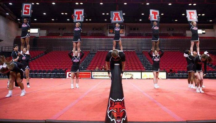Arkansas State Red Wolves cheerleaders