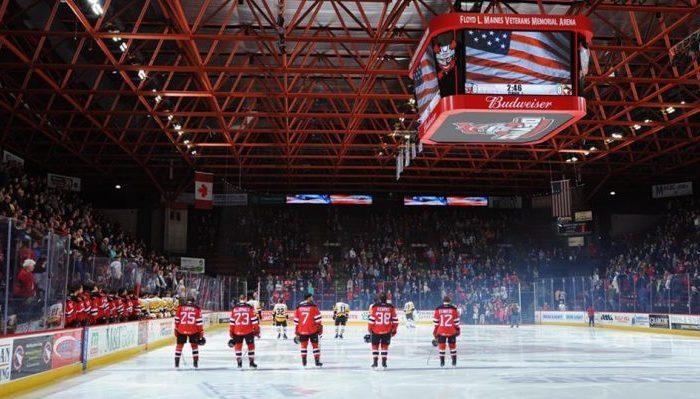 Binghamton Devils Floyd L. Maines Veterans Memorial Arena
