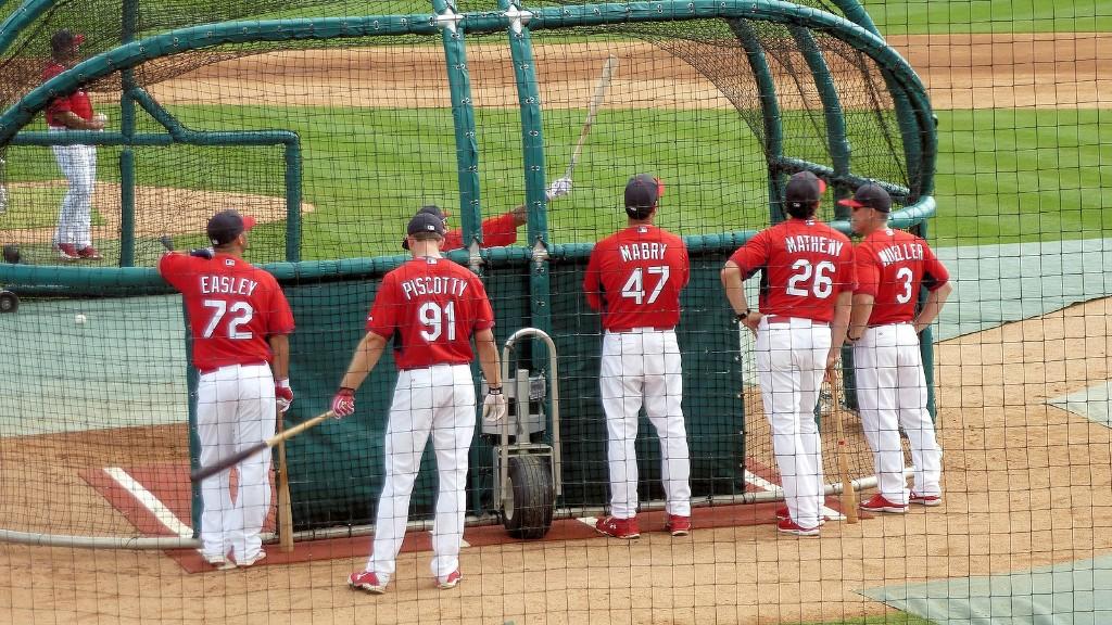 Cardinals batting practice