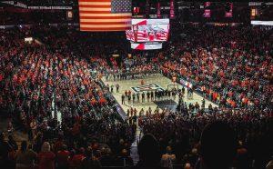 McKale Memorial Center basketball fans