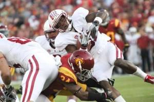 USC Trojans vs Stanford Cardinal football game