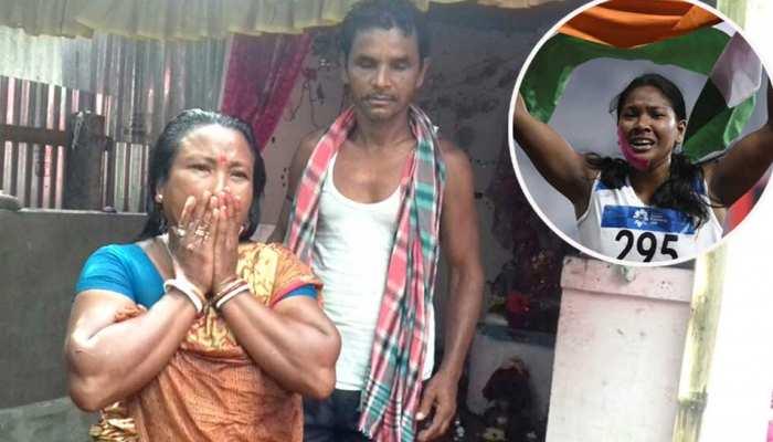 asian gold winner heptathlon Swapna Barman belong to poor family