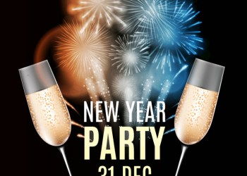 Happy New Year Party 31 December Poster Vector Illustration EPS10