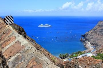 Cruise Ship St Helena Island