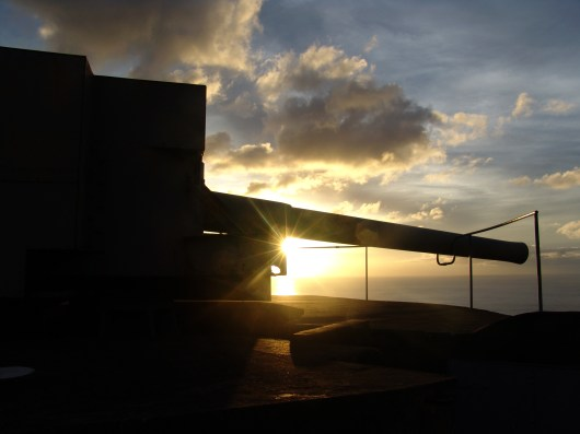 Guns Sunset, St Helena Island