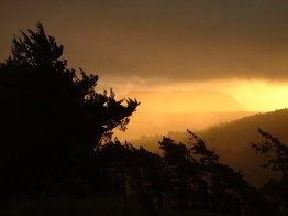 Barn at sunrise, St Helena Island