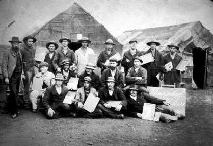 Boer Prisoners in camp